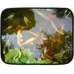 Koi Fish Pond Double Sided Fleece Blanket (mini)