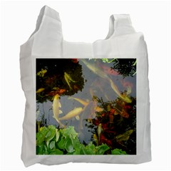 Koi Fish Pond Recycle Bag (two Side)