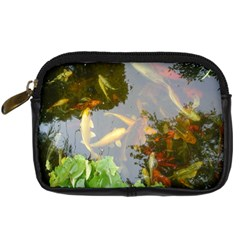 Koi Fish Pond Digital Camera Leather Case