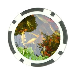 Koi Fish Pond Poker Chip Card Guard (10 Pack)