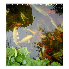 Koi Fish Pond Shower Curtain 66  X 72  (large)