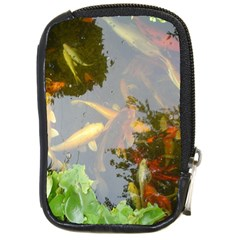 Koi Fish Pond Compact Camera Leather Case