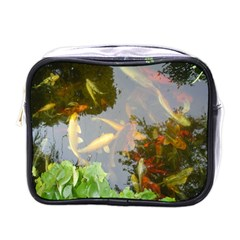 Koi Fish Pond Mini Toiletries Bag (one Side)