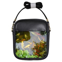 Koi Fish Pond Girls Sling Bag