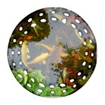 Koi Fish Pond Round Filigree Ornament (Two Sides) Front