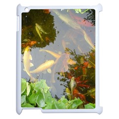 Koi Fish Pond Apple Ipad 2 Case (white)
