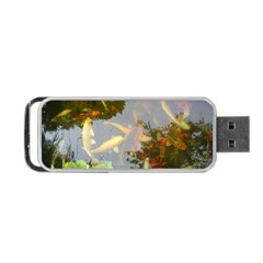 Koi Fish Pond Portable Usb Flash (one Side)