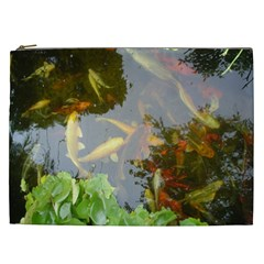 Koi Fish Pond Cosmetic Bag (xxl)