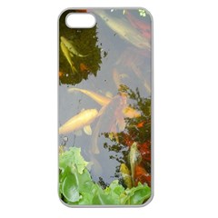 Koi Fish Pond Apple Seamless Iphone 5 Case (clear)