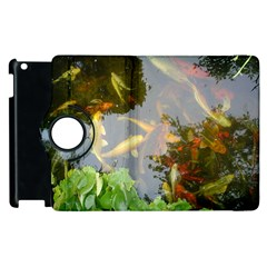 Koi Fish Pond Apple Ipad 3/4 Flip 360 Case