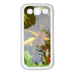 Koi Fish Pond Samsung Galaxy S3 Back Case (white)
