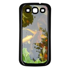 Koi Fish Pond Samsung Galaxy S3 Back Case (black)