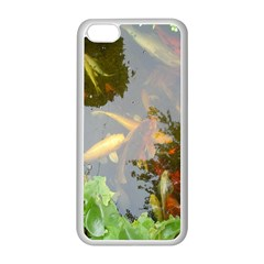 Koi Fish Pond Apple Iphone 5c Seamless Case (white)