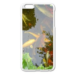 Koi Fish Pond Apple Iphone 6 Plus/6s Plus Enamel White Case