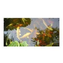 Koi Fish Pond Satin Wrap