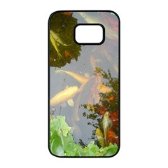 Koi Fish Pond Samsung Galaxy S7 Edge Black Seamless Case