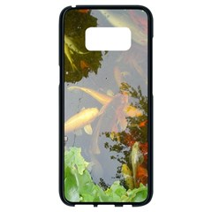Koi Fish Pond Samsung Galaxy S8 Black Seamless Case