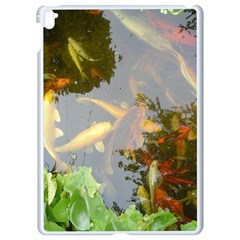 Koi Fish Pond Apple Ipad Pro 9 7   White Seamless Case