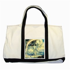 Vintage   To See The Sea Two Tone Tote Bag by WensdaiAddamns