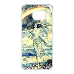 Vintage   To See The Sea Samsung Galaxy S7 Edge White Seamless Case by WensdaiAddamns