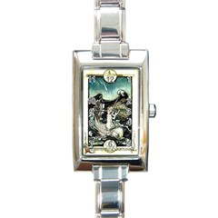 Vintage Aphrodite Rectangle Italian Charm Watch by WensdaiAddamns