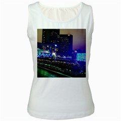 Columbus Commons Women s White Tank Top