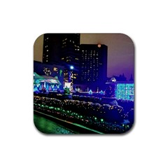 Columbus Commons Rubber Square Coaster (4 Pack)