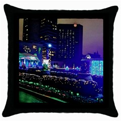 Columbus Commons Throw Pillow Case (black)