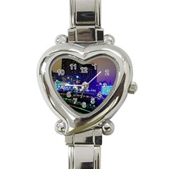 Columbus Commons Heart Italian Charm Watch by Riverwoman