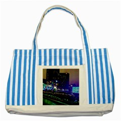 Columbus Commons Striped Blue Tote Bag
