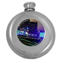 Columbus Commons Round Hip Flask (5 Oz)