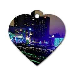 Columbus Commons Dog Tag Heart (one Side)