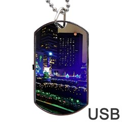 Columbus Commons Dog Tag Usb Flash (one Side)