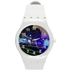 Columbus Commons Round Plastic Sport Watch (m)