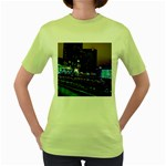 Columbus Commons Women s Green T-Shirt Front