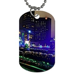 Columbus Commons Dog Tag (two Sides) by Riverwoman