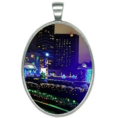 Columbus Commons Oval Necklace