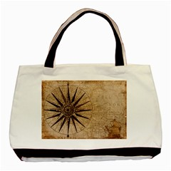 Vintage Compass Basic Tote Bag by WensdaiAddamns