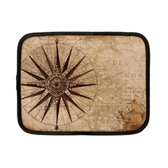 Vintage Compass Netbook Case (small) by WensdaiAddamns