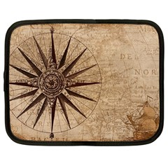 Vintage Compass Netbook Case (large) by WensdaiAddamns