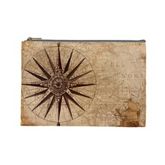 Vintage Compass Cosmetic Bag (large) by WensdaiAddamns