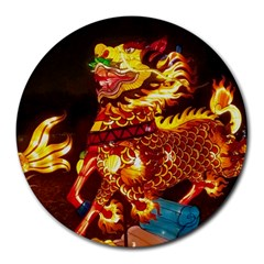 Dragon Lights Round Mousepads