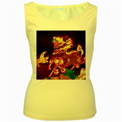 Dragon Lights Women s Yellow Tank Top