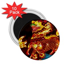 Dragon Lights 2 25  Magnets (10 Pack)