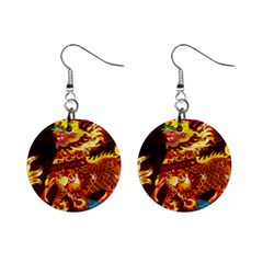 Dragon Lights Mini Button Earrings