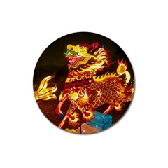 Dragon Lights Magnet 3  (round)