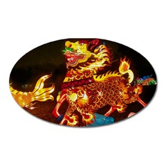 Dragon Lights Oval Magnet