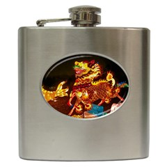 Dragon Lights Hip Flask (6 Oz)