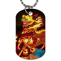 Dragon Lights Dog Tag (two Sides) by Riverwoman