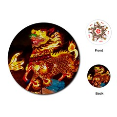 Dragon Lights Playing Cards (round)
